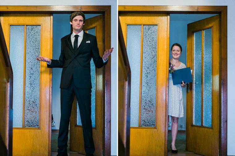 Bräutigam Begrüßung