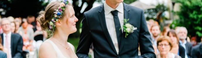 Hochzeitsfotografie am Haus Kirschheide in Solingen und Gartenhochzeit