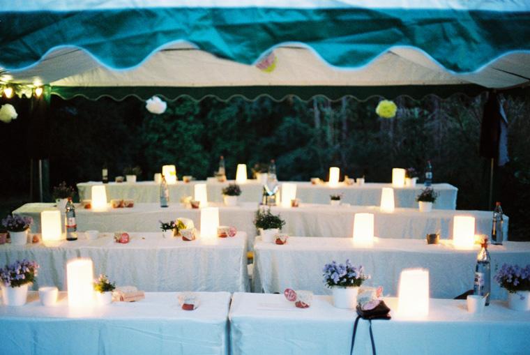 Tischdeko DYI-Gartenhochzeit