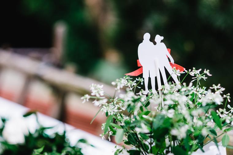 Detailaufnahme Papeterie Hochzeit