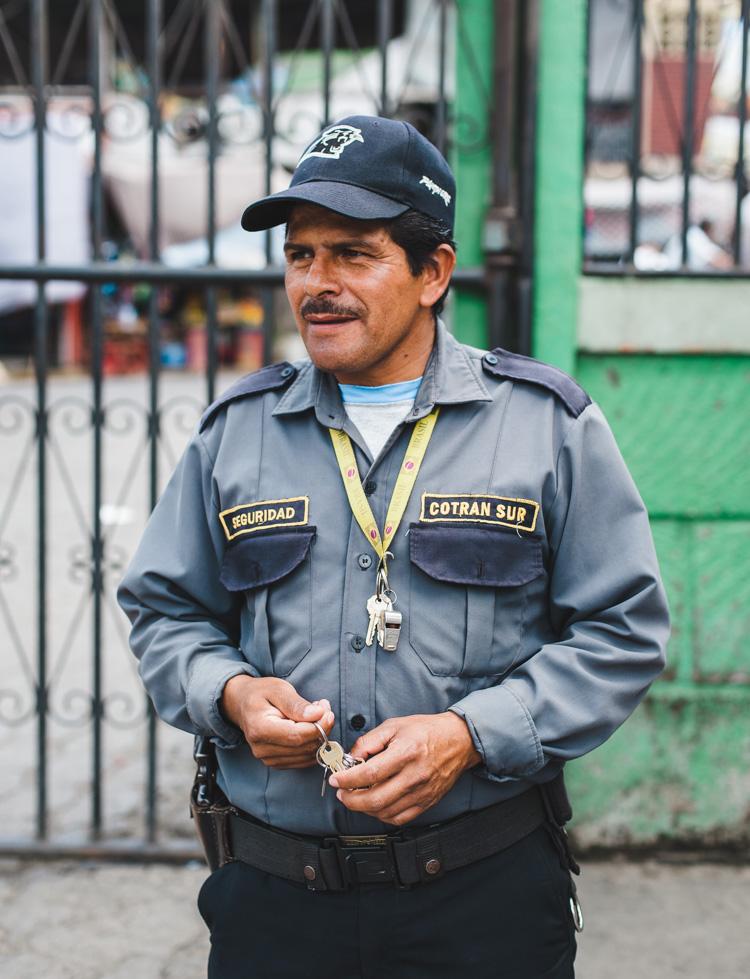 Sicherheitsmann - Busbahnhof Matagalpa