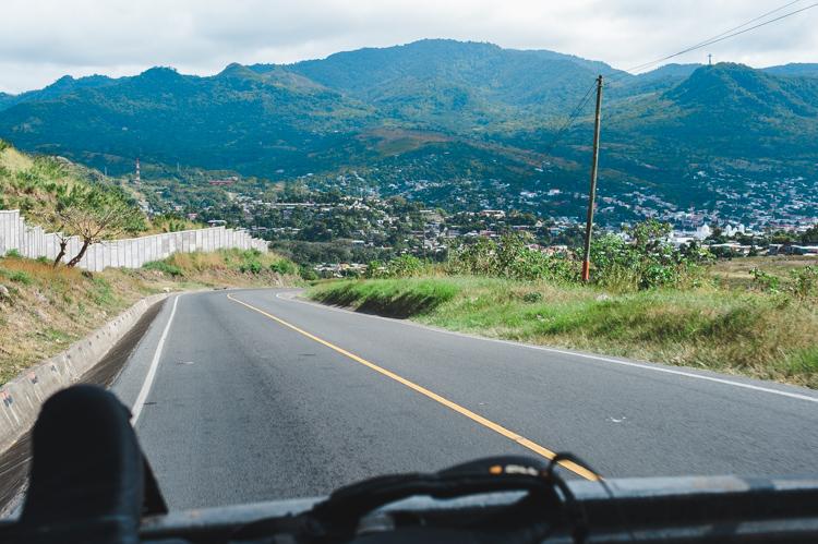 Endlich wieder Trampen! Blick auf Matagalpa