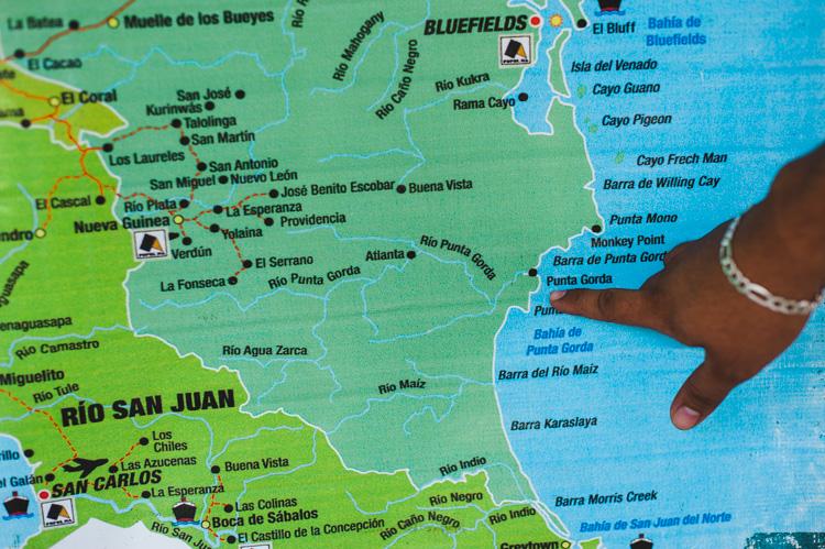 """""""Punta Gorda"""" (""""Fette Spitze"""") ist der Ort an der Atlantikküste, an dem der Kanal beginnen soll. Noch weiß ich nicht, wie und dass ich tatsächlich bis dorthin reisen werde."""