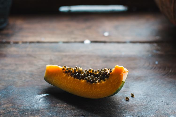 Papaya zum Frühstück.