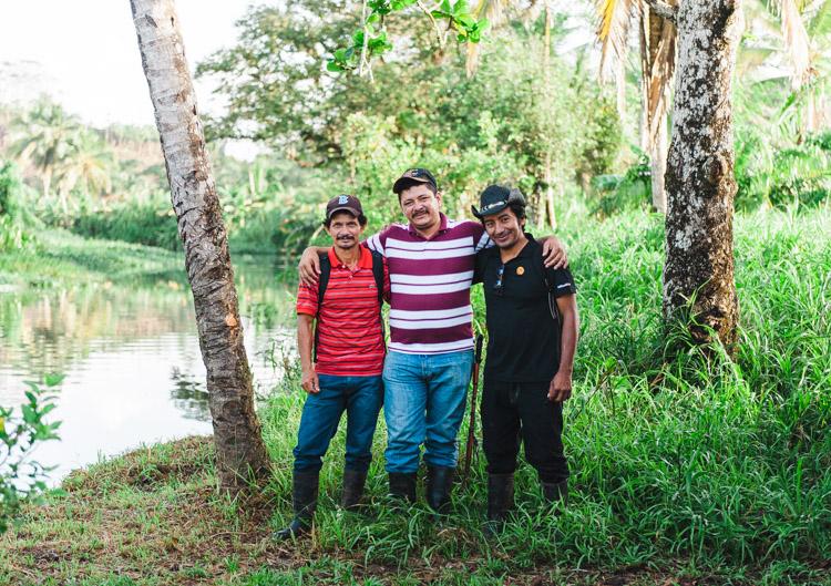 Meine drei Helden: Chepito, Medardo und Pablo (l-r).