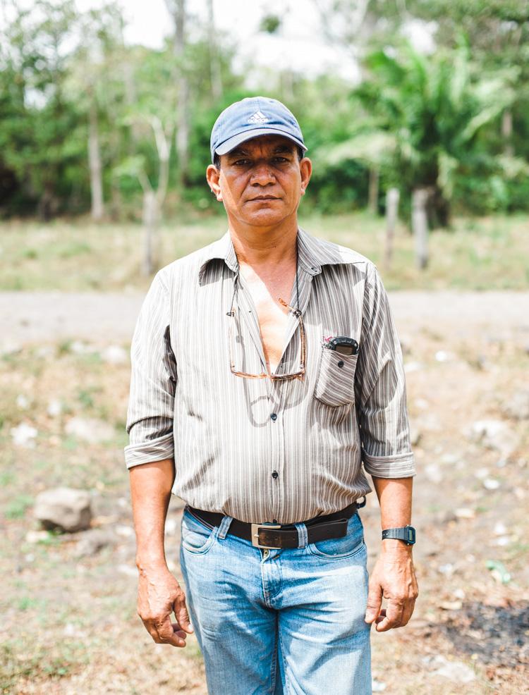 Arnolfo Sequiera, 53, Quebrada Seca, unterstützt die Koordination der Aktivitäten gegen das Kanal-Gesetz.