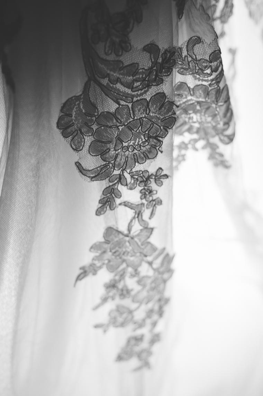 Details des Brautkleids