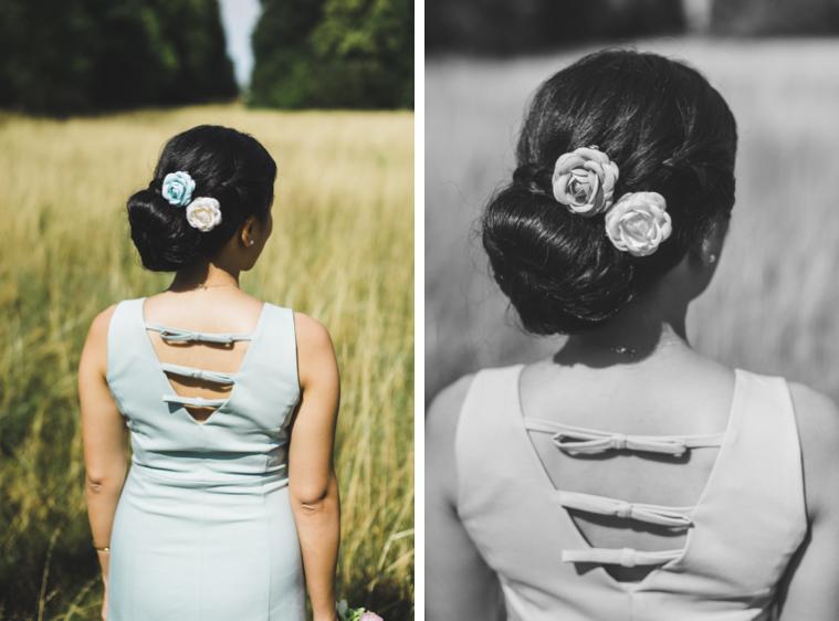 Detailfoto Hairstyling Braut