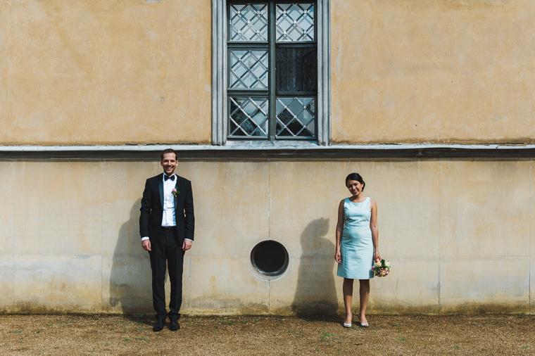 Symmetrische Hochzeitsfotografie