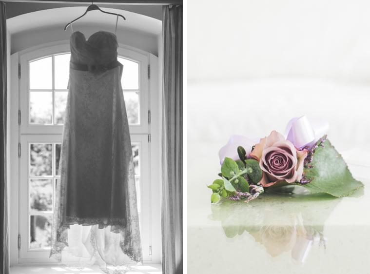Foto von Hochzeitskleid Brautkleid und Blumen