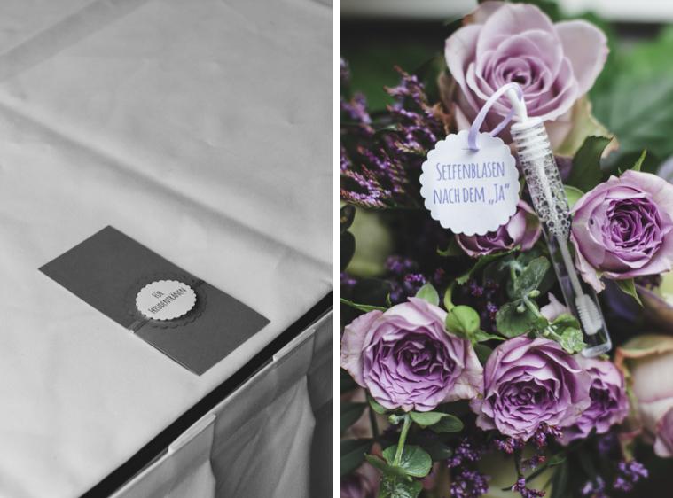 Detailaufnahmen Hochzeit Deko