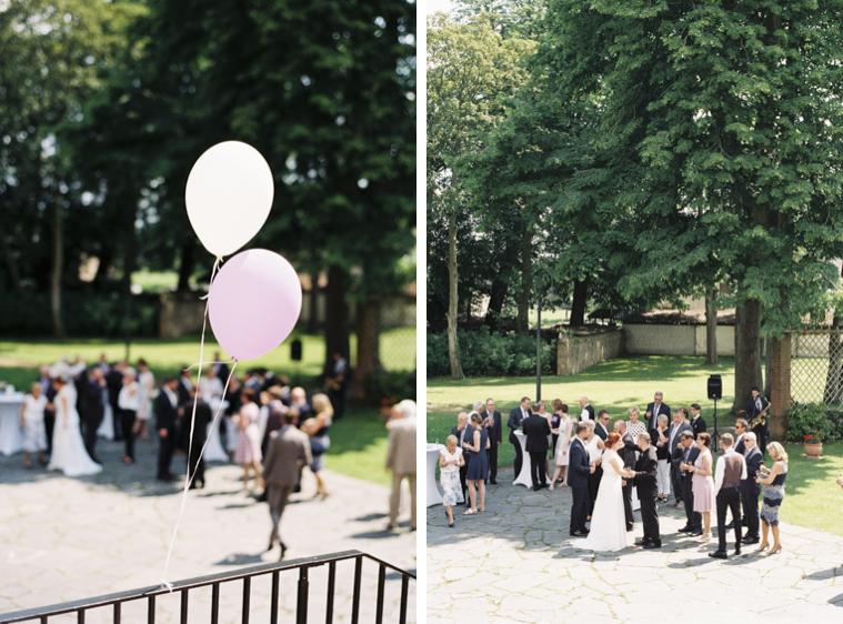 Hochzeitsempfang im Innenhof