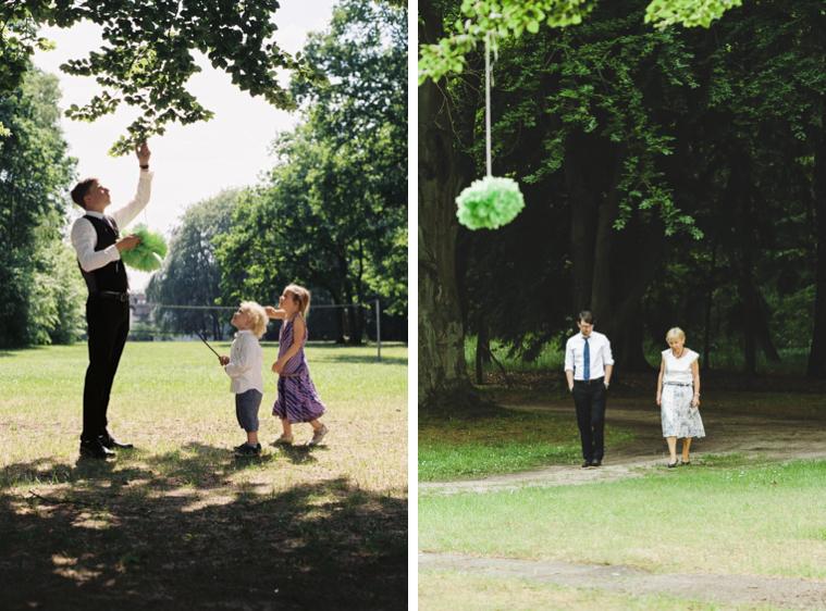 Spielende Kinder auf Hochzeit