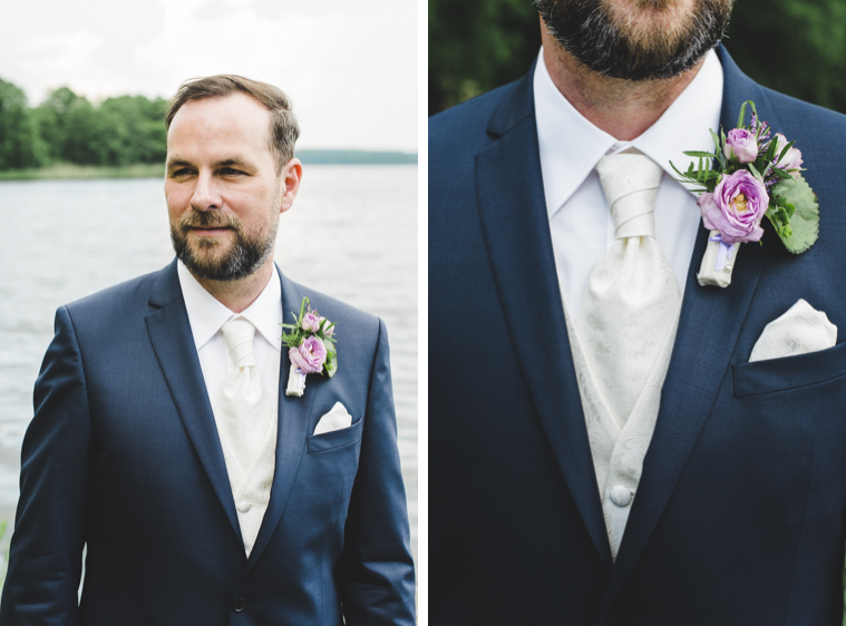 Gut aussehender Bräutigam