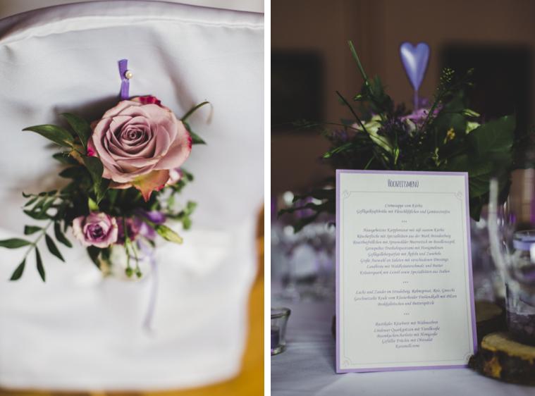 Schöne Hochzeits Deko mit Blumen