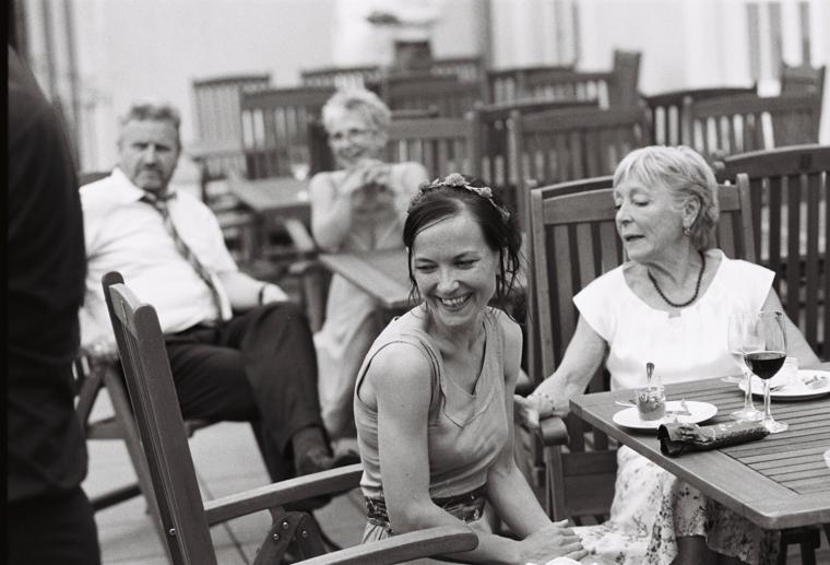 Portrait von Hochzeitsgästen
