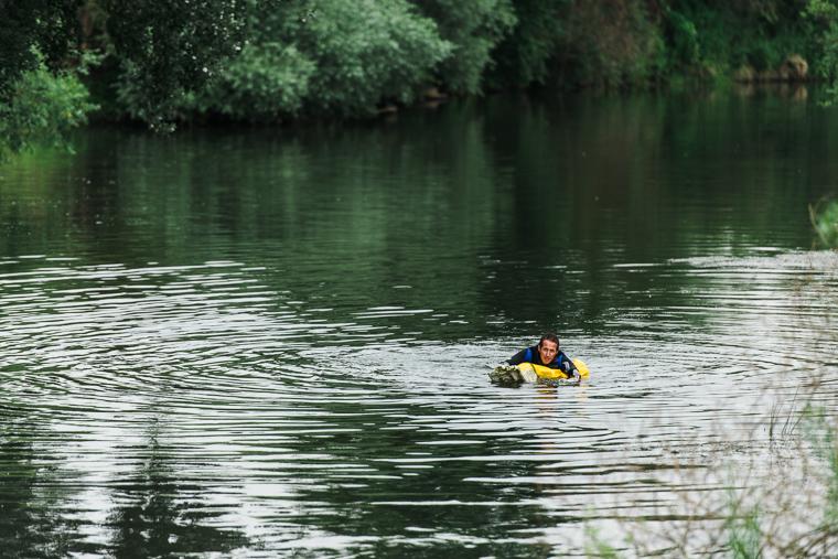 Schwimmer in Unstrut