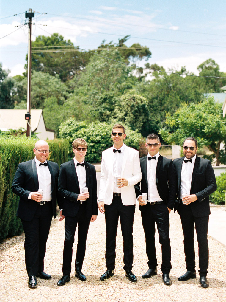 groom and his groomsmen