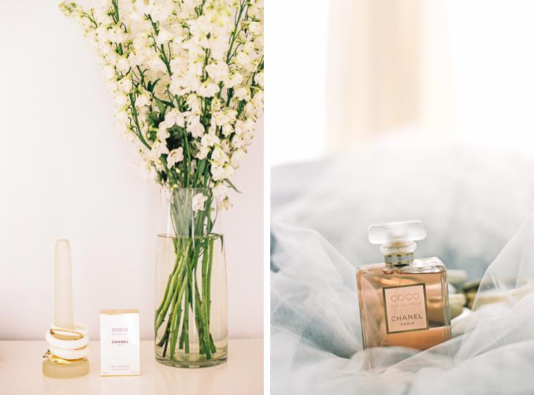 Coco Chanel Parfum und Armringe der Braut
