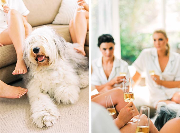 Mädels trinken Champagner