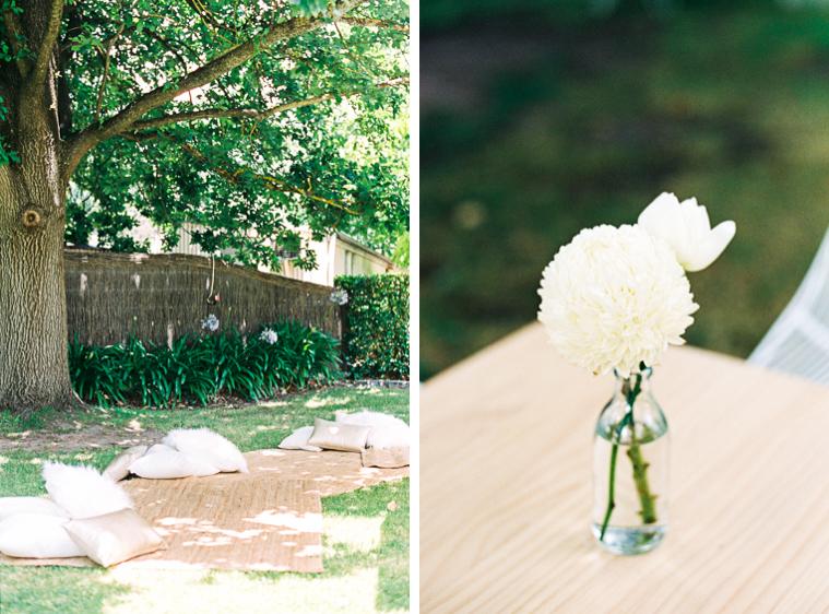 Weingut Garten für Hochzeit dekoriert