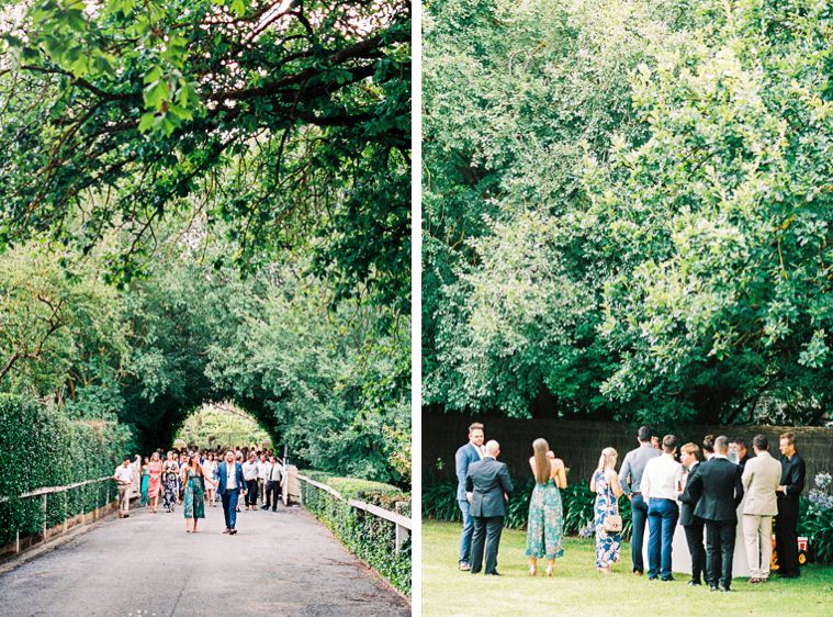 guests walking to reception