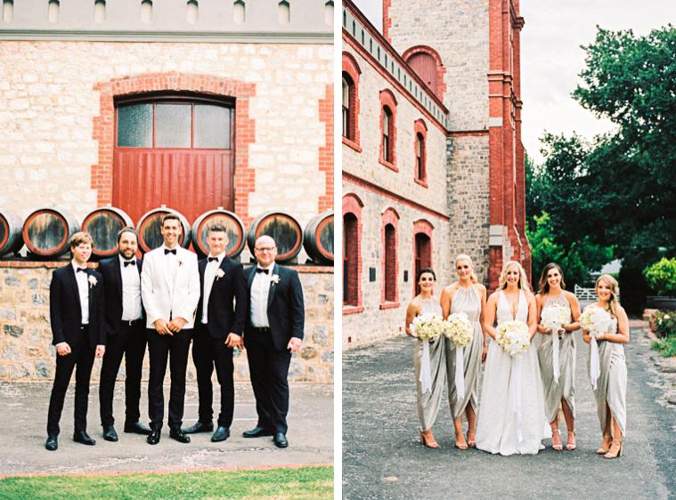 Braut Bräutigam mit Trauzeugen