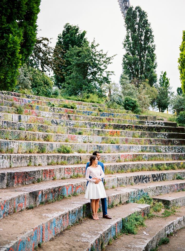hochzeitsfoto mit graffiti
