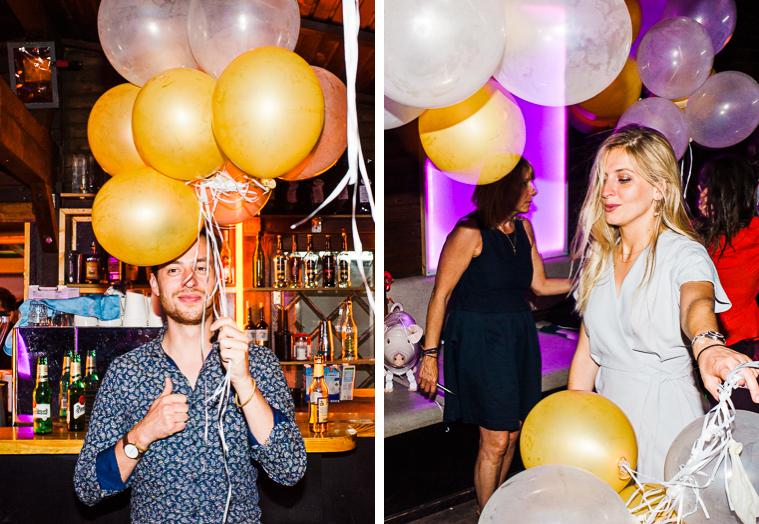 luftballons auf der tanzfläche