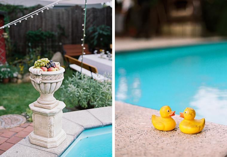 Gartenhochzeit mit Pool