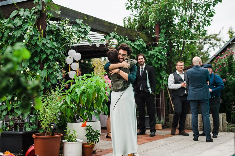 Begrüßung der Hochzeitsgäste