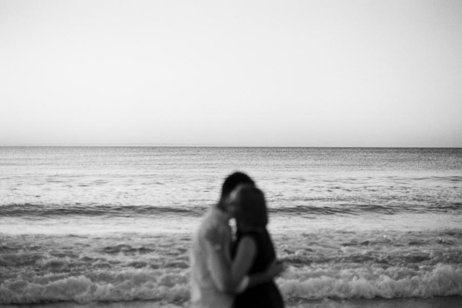 Analoges von Paar am Meer