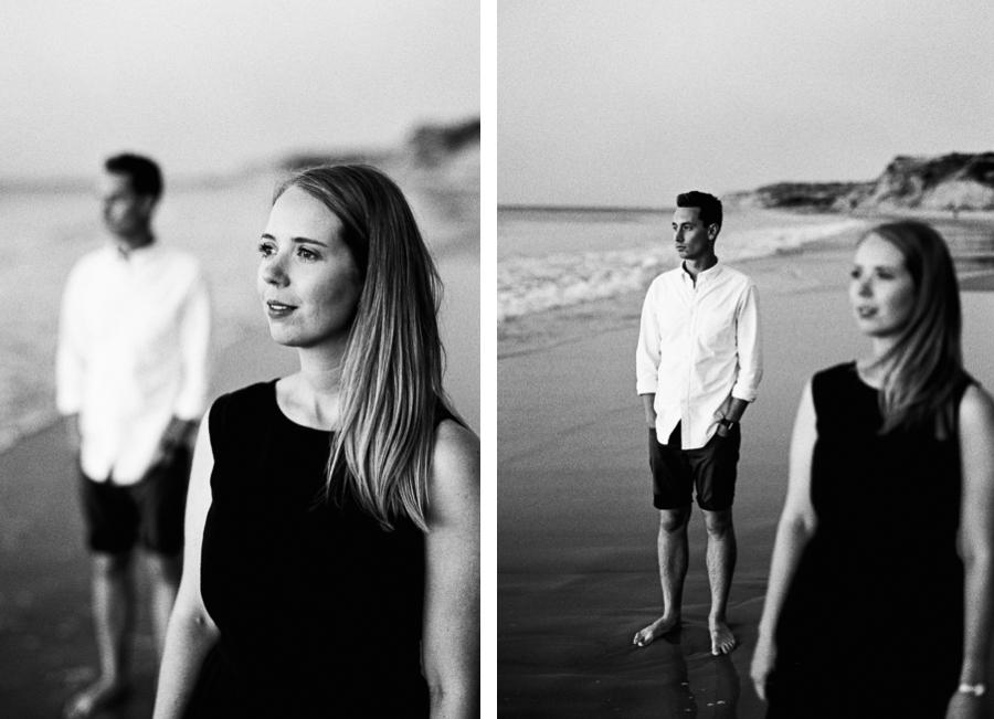 Collage Schwarz Weiß Paarfoto