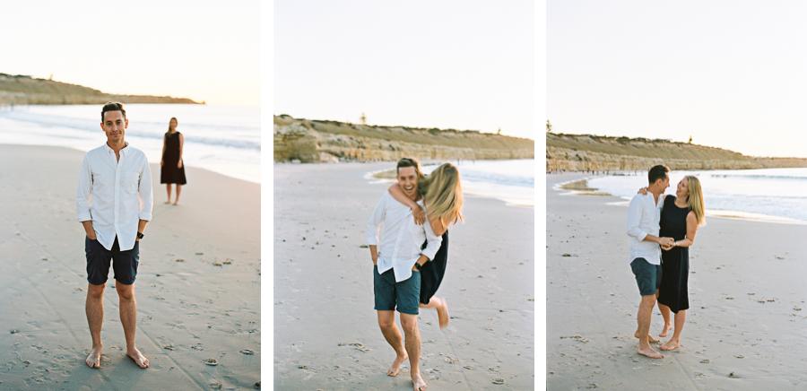 Collage Paar am Strand
