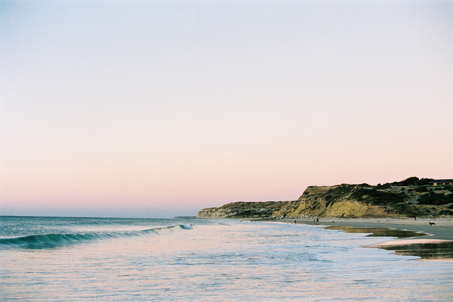 Sunset view of beach at Port Willunga in South Australia