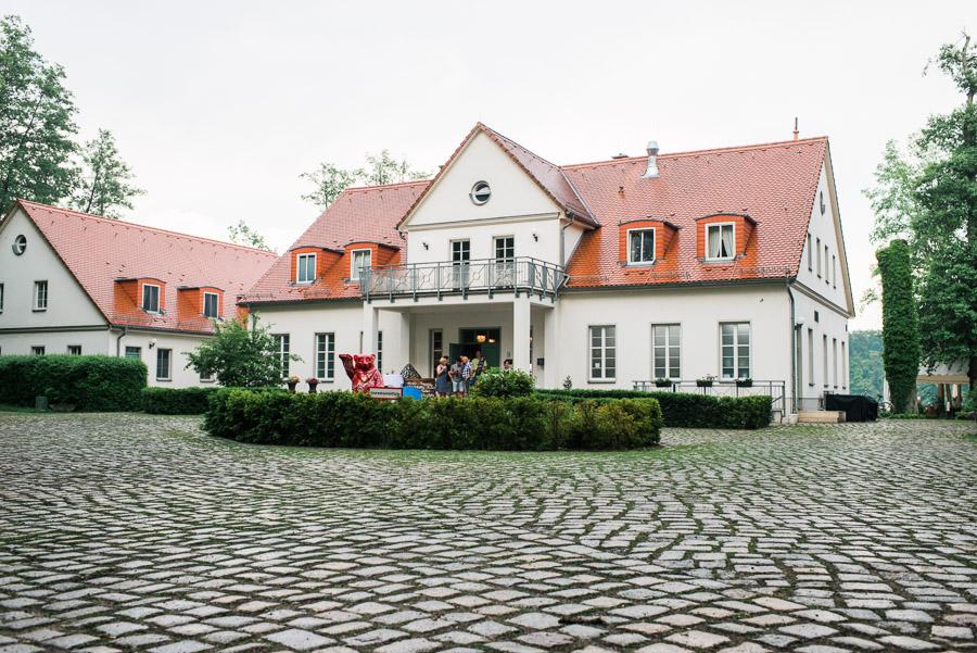 Außen Ansicht Café Wildau