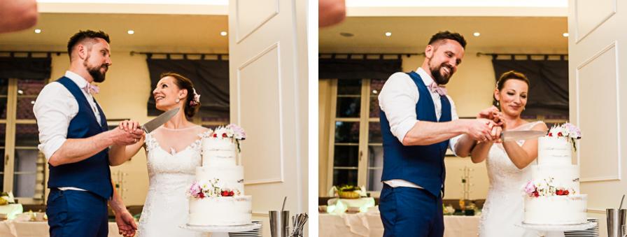 Anschnitt Hochzeitstorte - Wer hat die Hand oben?