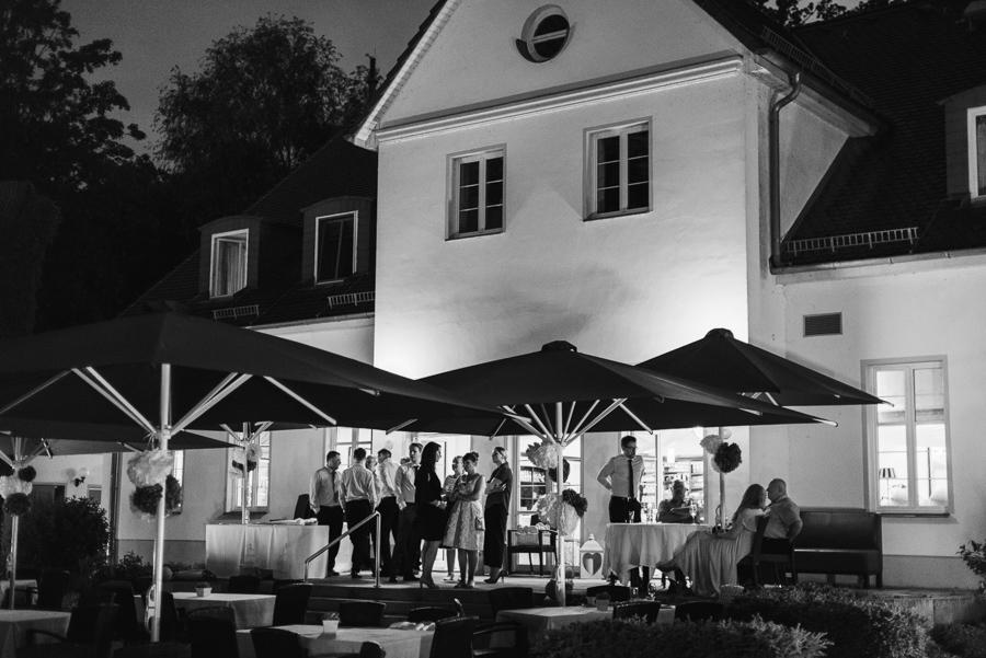 Terrasse Cafe Wildau bei Nacht
