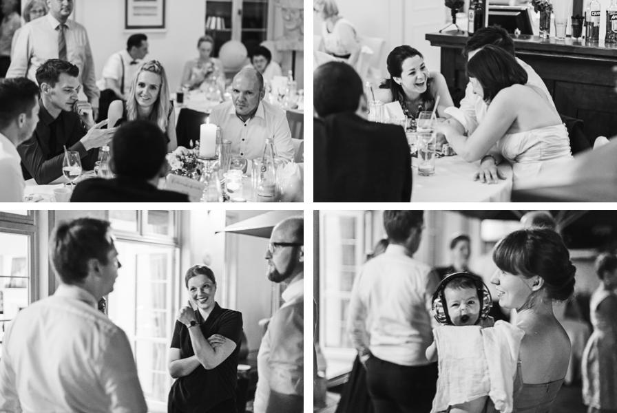 Collage Hochzeitsgesellschaft