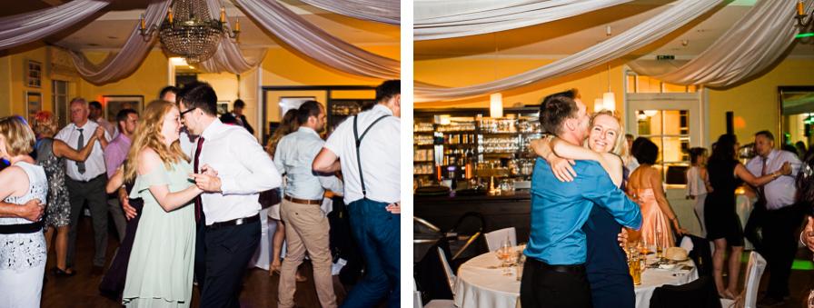 Gäste bei Hochzeitsparty