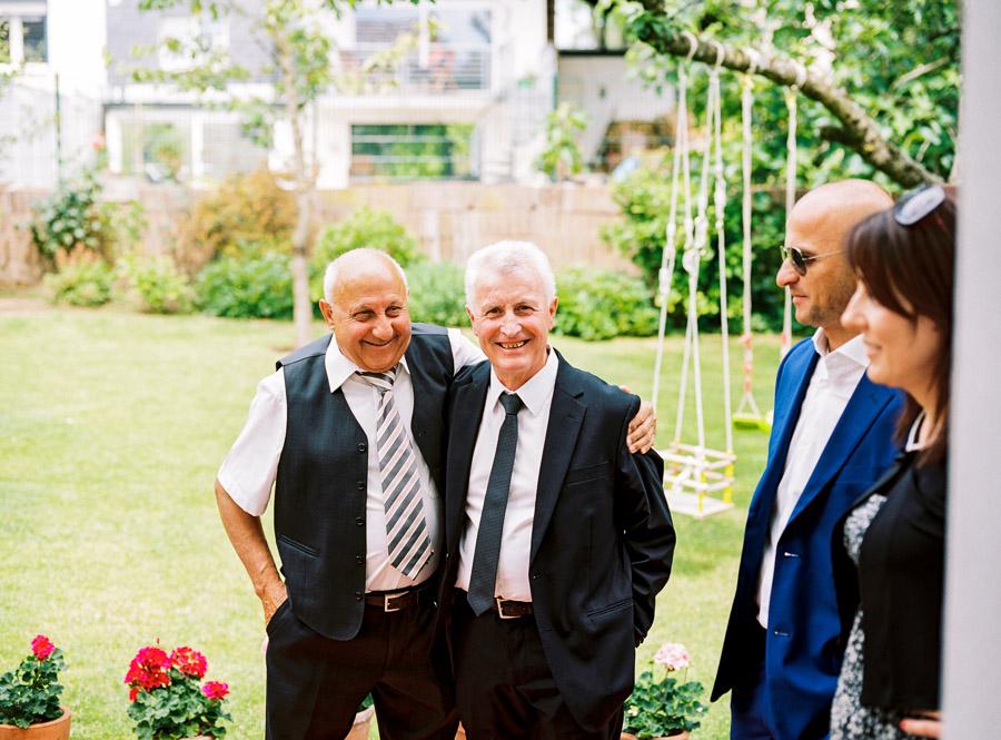 Verwandte des Hochzeitepaares