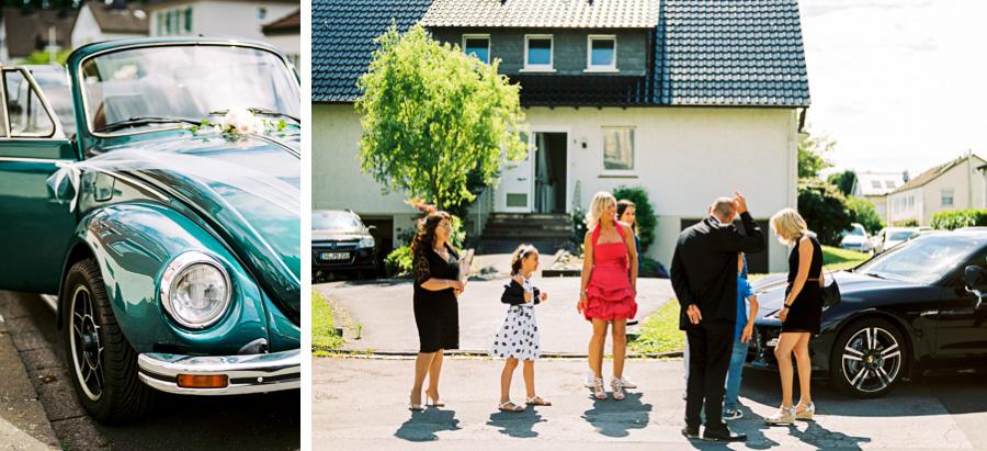 Käfer als Hochzeitsauto
