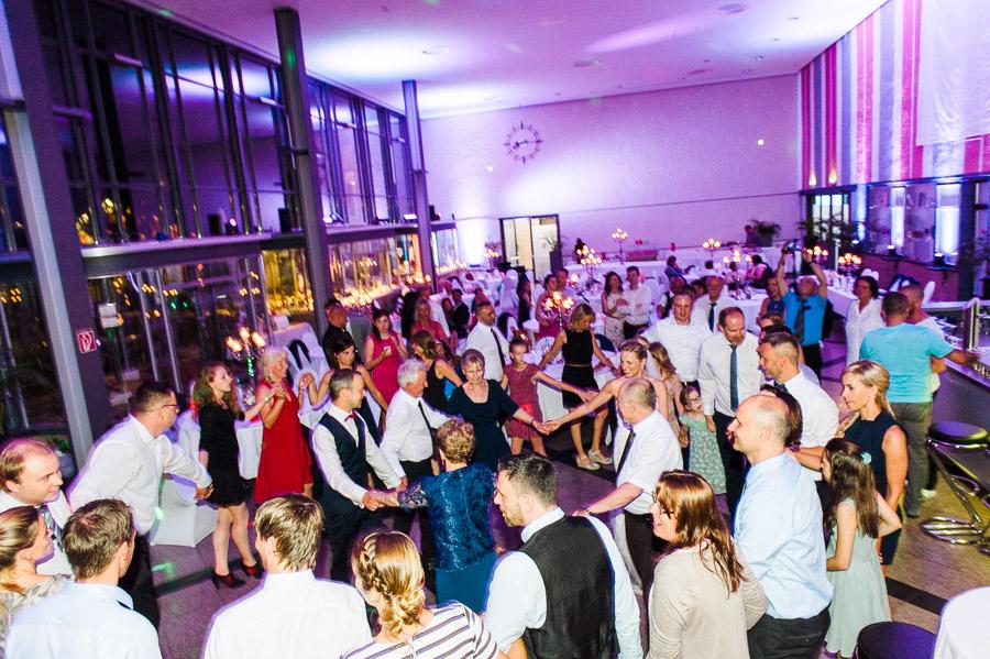 Hochzeitsparty im alten Hauptbahnhof in Solingen