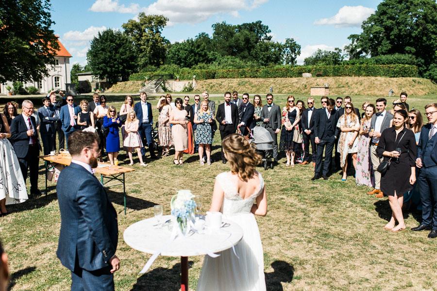 Kurze Rede des Brautpaares