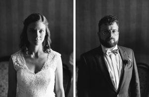Analoge Hochzeitsportraits in Schwarz Weiß
