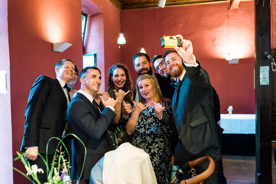Freunde machen Selfie