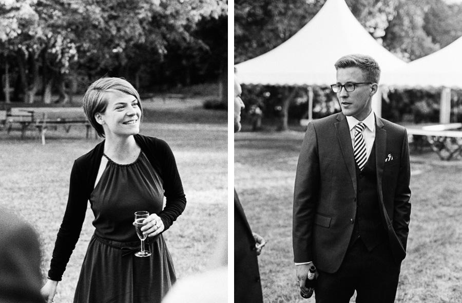 Hochzeitsfoto auf Schwarzweiß-Film