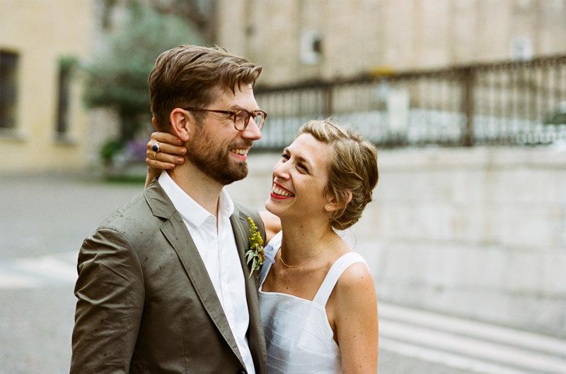 Hochzeitspaar in Italien