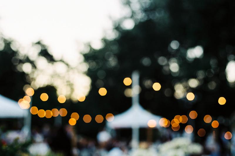 Stimmungsvolles Foto von Hochzeitsfeier
