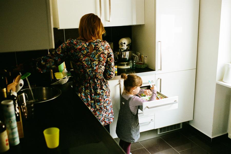 Frühstücksvorbereitungen in der Küche